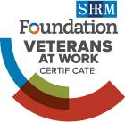Veterans At Work Cert Badge